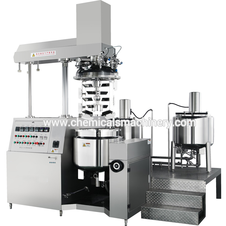 vacuum homogeneous pharmaceutic cream emulsifying mixer machine