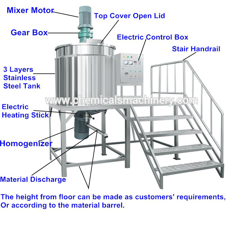 Tank Mixer Machine with Homogenizer
