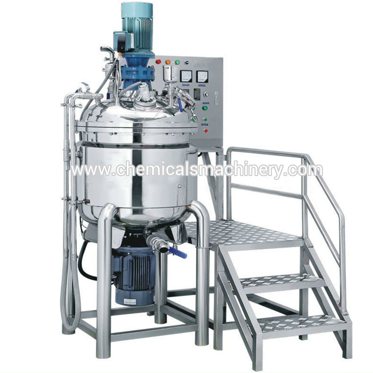 Chemical Mixing Tank with Homogenizer