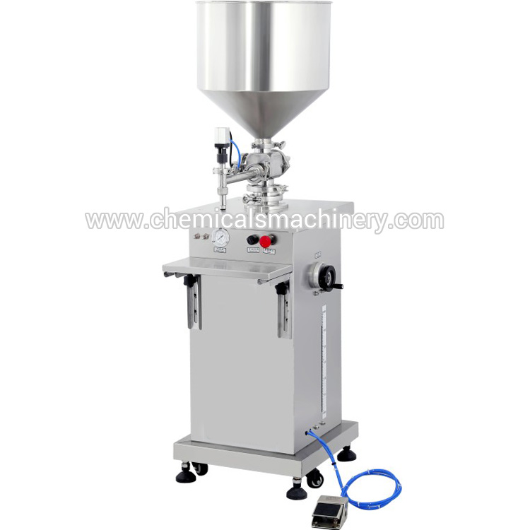 Vertical Type Semi Automatic Pneumatic Liquid and Paste Filling Machine Manufacturer