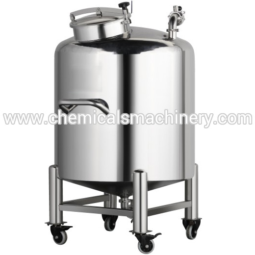Movable Stainless Steel Storage Tank for Cosmetic Manufacturing
