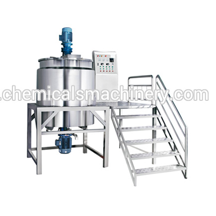 stainless steel stirring tank conditioner shampoo making machine