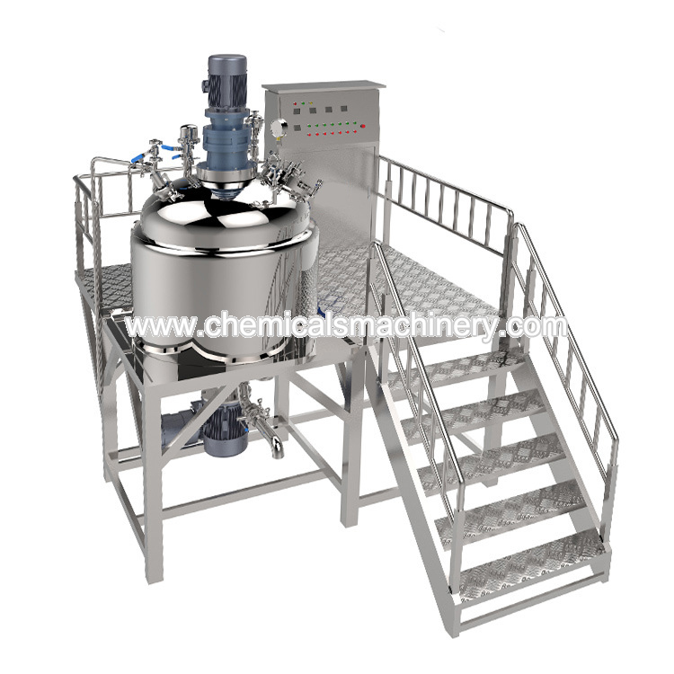 Double Jacketed Electric Heating Stainless Steel Mixing Tank with Agitator